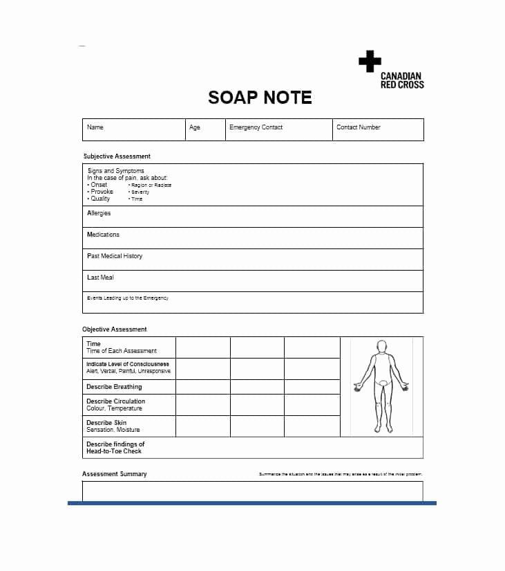 Soap Note Template Nurse Practitioner Unique 40 Fantastic soap Note Examples & Templates Template Lab