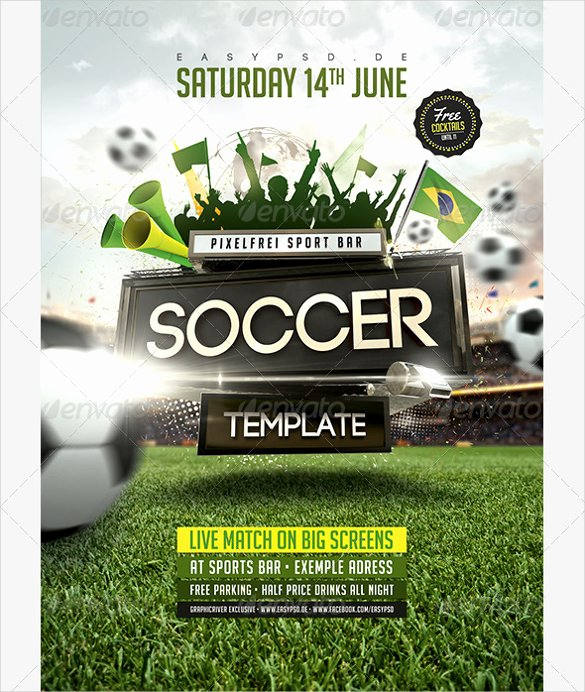 Soccer Flyer Template Free Awesome 43 soccer Flyer Templates Psd Word Eps Vector Ai