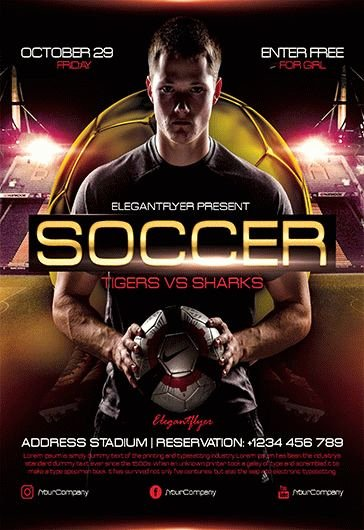 Soccer Flyer Template Free Awesome Free soccer Flyer Templates In Psd