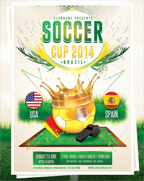 Soccer Flyer Template Free Beautiful soccer Flyer Template 20 Download In Vector Eps Psd