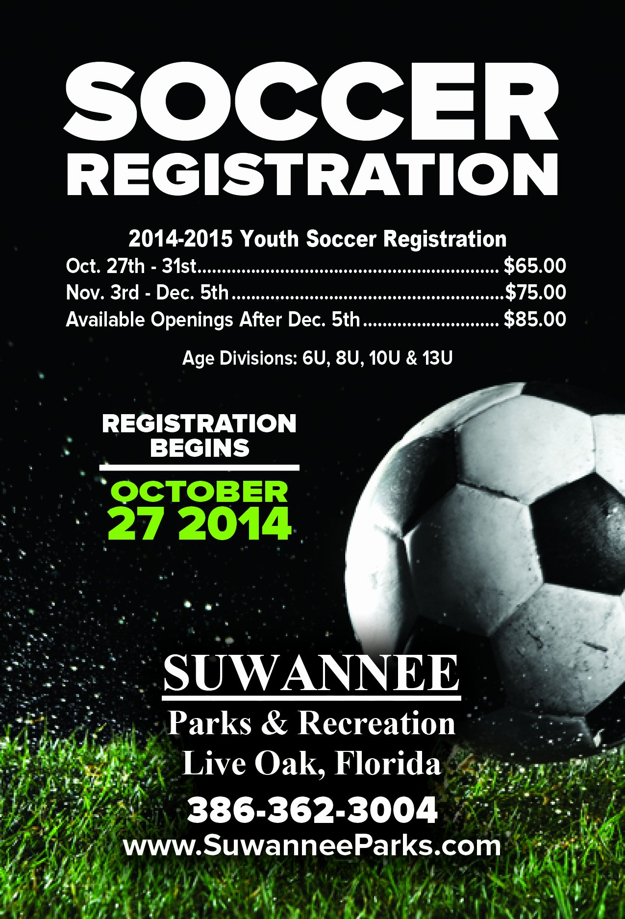 Soccer Flyer Template Free Beautiful Suwannee Parks and Recreation