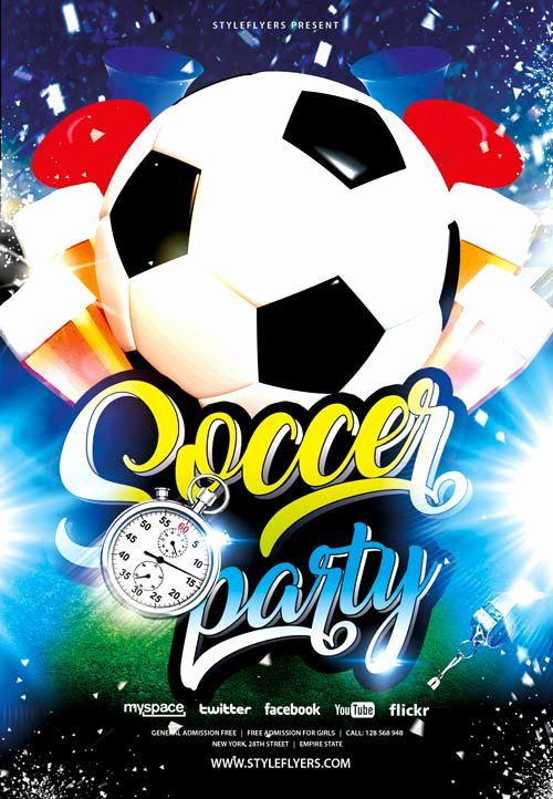 Soccer Flyer Template Free Best Of Freepsdflyer