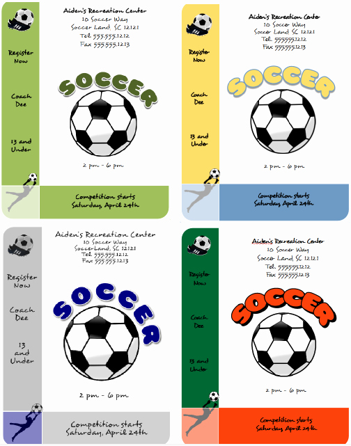 Soccer Flyer Template Free Best Of Pin by Flyertutor On Free Flyer Templates