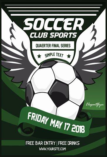 Soccer Flyer Template Free Elegant soccer – Free Flyer Psd Template – by Elegantflyer