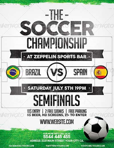 Soccer Flyer Template Free Fresh Best soccer Flyer Templates No 1 Download Psd Flyer