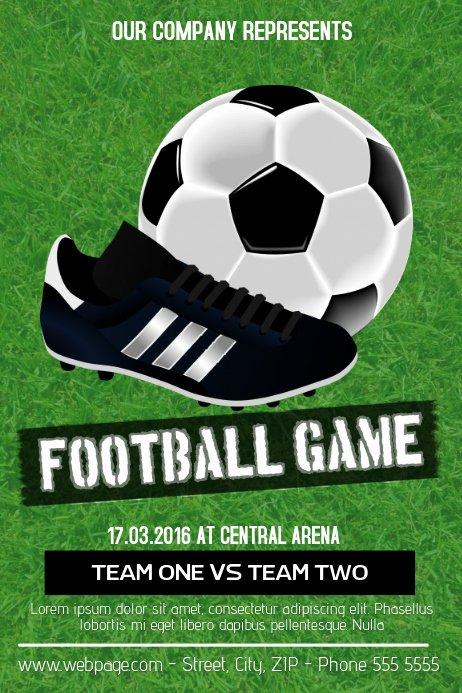 Soccer Flyer Template Free Fresh Football soccer Game Flyer Template