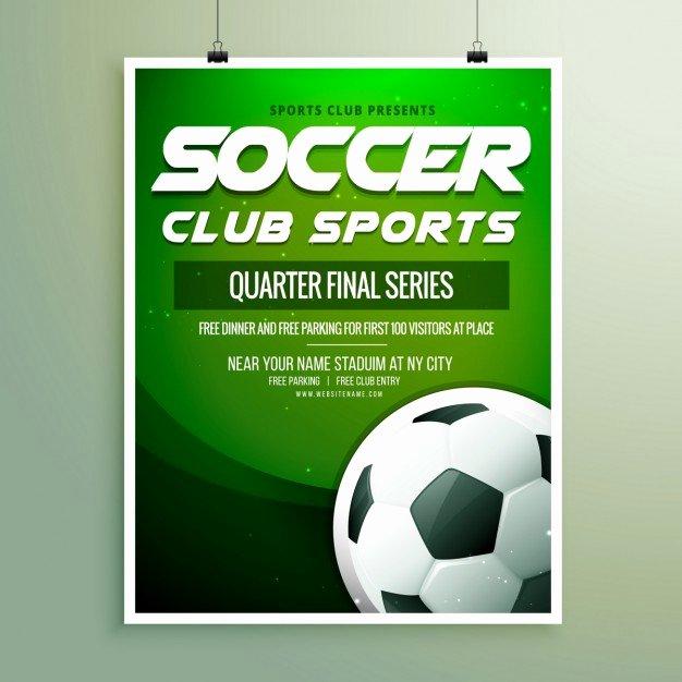 Soccer Flyer Template Free Fresh soccer Championship Flyer Template Vector