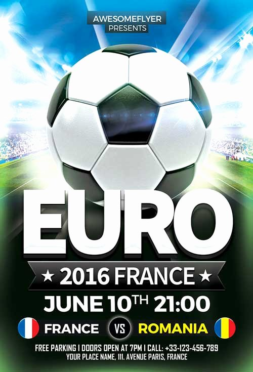 Soccer Flyer Template Free Inspirational Download Euro soccer Flyer Template for Shop
