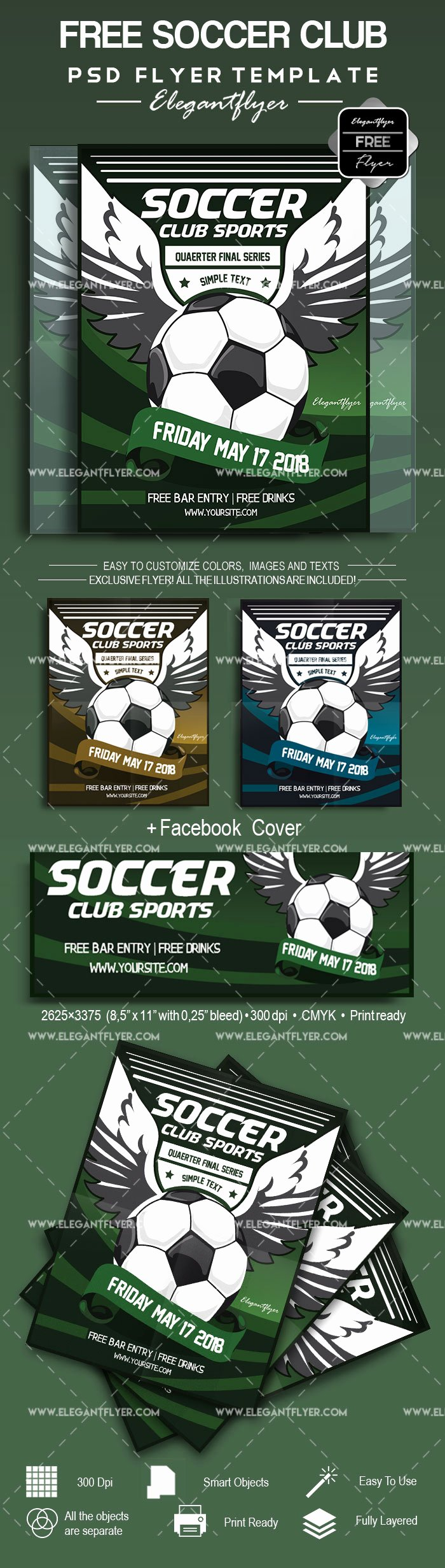 Soccer Flyer Template Free Inspirational soccer – Free Flyer Psd Template – by Elegantflyer