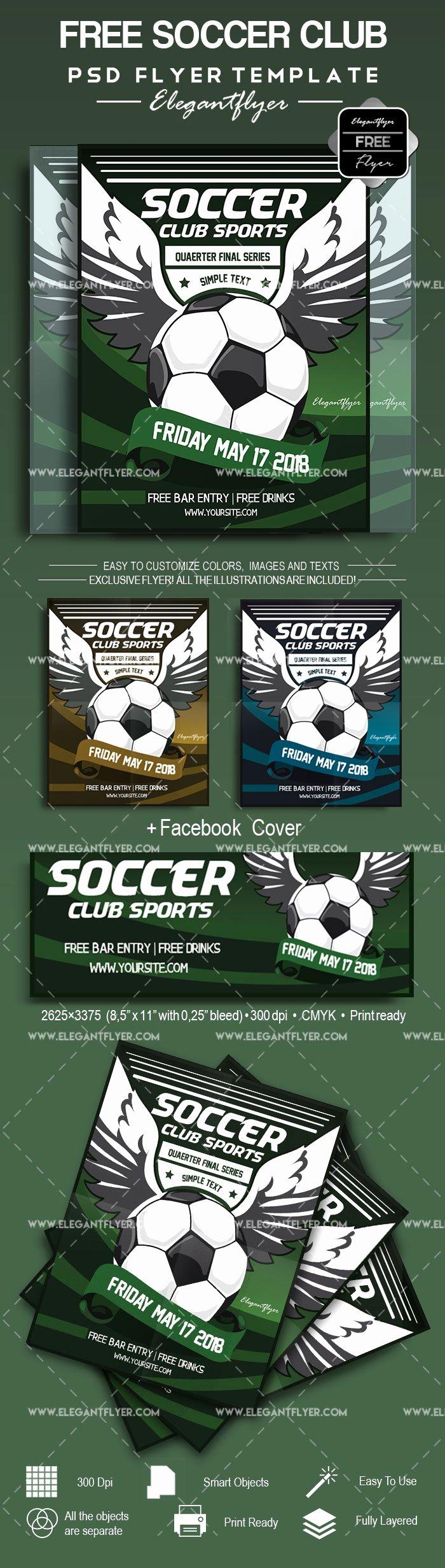 Soccer Flyer Template Free Inspirational soccer – Free Flyer Psd Template – by Elegantflyer