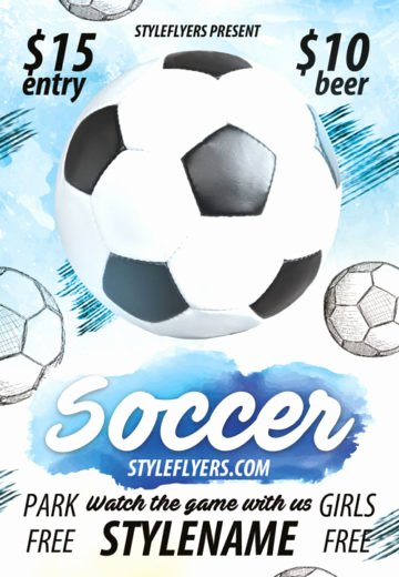 Soccer Flyer Template Free Luxury Download Free soccer Flyer Psd Templates for Shop