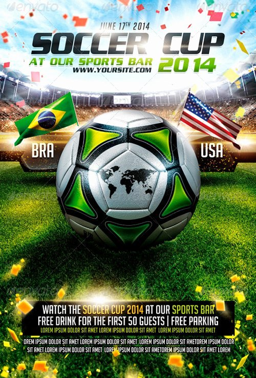 Soccer Flyer Template Free Luxury top 25 Best Euro soccer Psd Flyer Templates 2014 Brasil