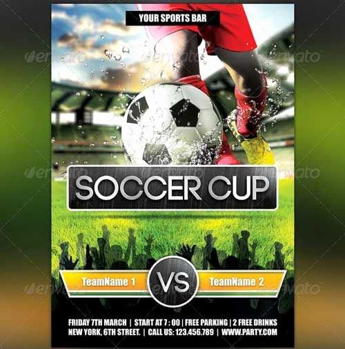 Soccer Flyer Template Free New Football Flyer Template Design