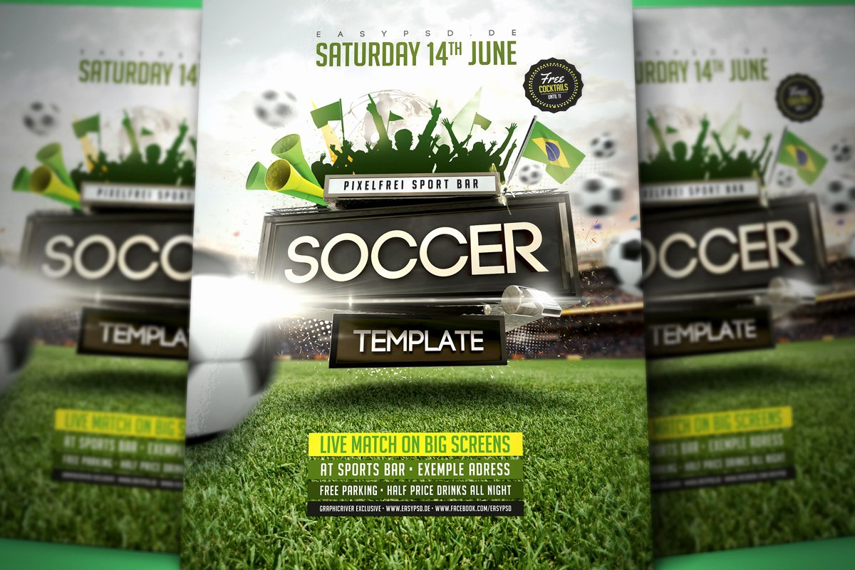 Soccer Flyer Template Free New soccer Flyer Template by Pixelfrei On Deviantart
