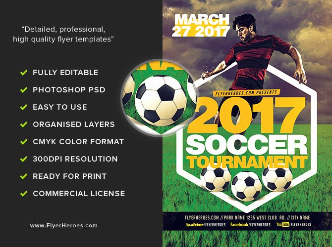 Soccer Flyer Template Free Unique 2017 soccer tournament Flyer Template V2 Flyerheroes
