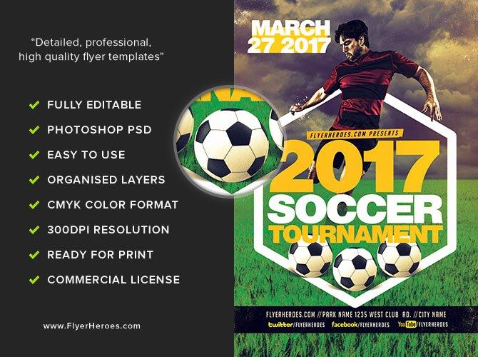 Soccer Flyer Template Free Unique 2017 soccer tournament Flyer Template V2 Flyerheroes