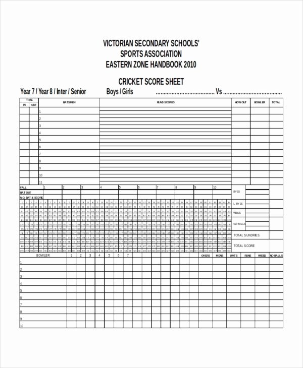 Soccer Score Sheet Template Elegant Score Sheet Templates 26 Free Word Excel Pdf Document