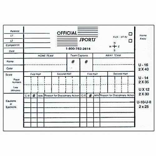 Soccer Score Sheet Template Inspirational Printable Referee Score Cards – Ezzy