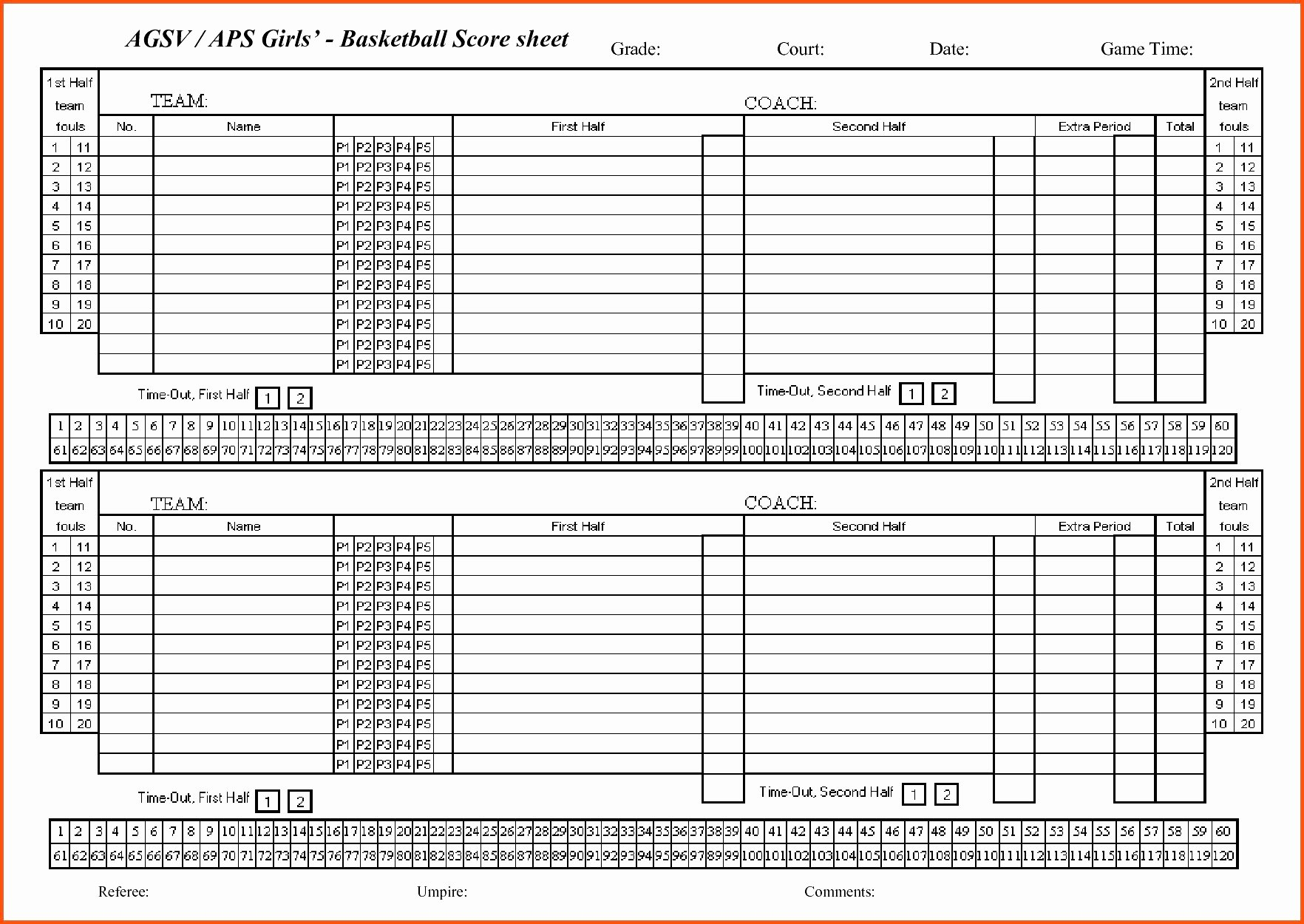 Soccer Score Sheet Template Inspirational soccer Stats Spreadsheet Template In Basketball Stat Sheet