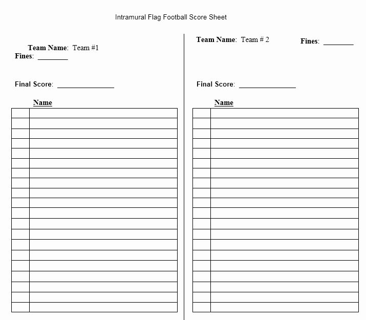 Soccer Score Sheet Template Luxury Score Sheet for Football 2018