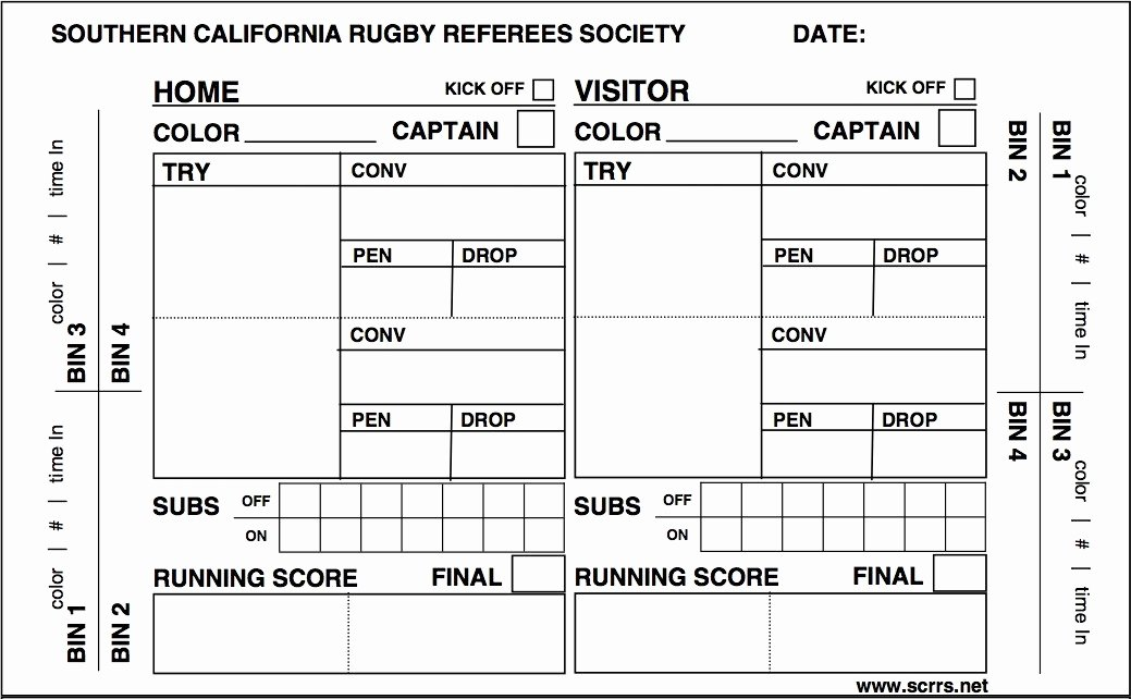 Soccer Score Sheet Template New Printable Referee Score Cards – Ezzy