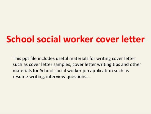 Social Work Cover Letter Template Fresh School social Worker Cover Letter