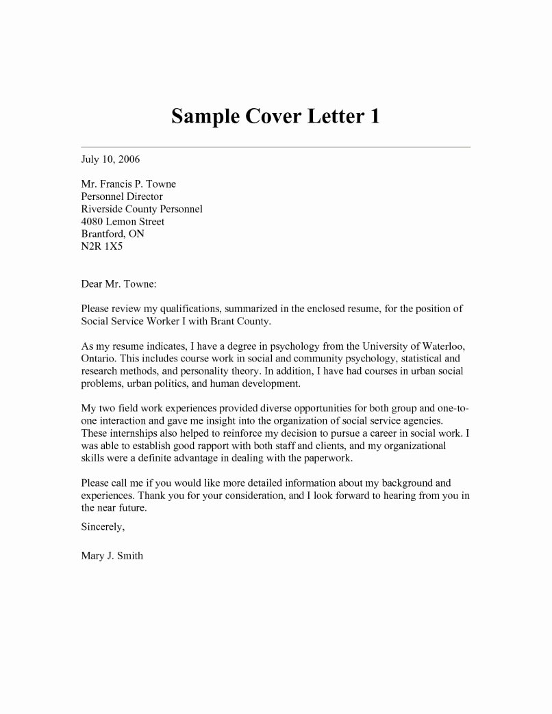 Social Work Cover Letter Template Inspirational 12 13 Munity Services Cover Letter