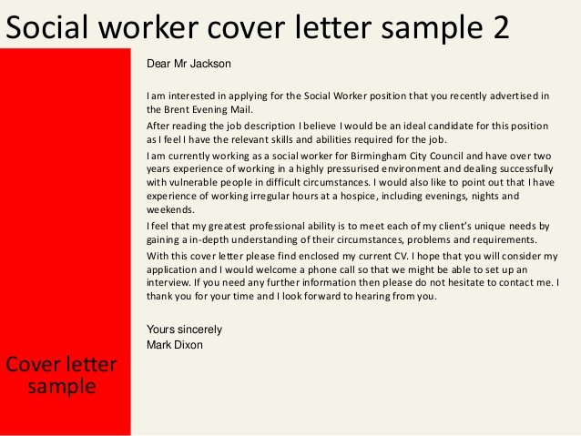 Social Work Cover Letter Template Unique social Workercover Letter