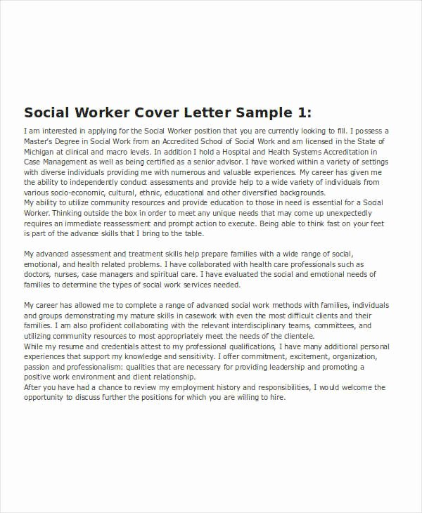 Social Worker Cover Letter Template Awesome 15 Printable Work Resume Templates Pdf Doc
