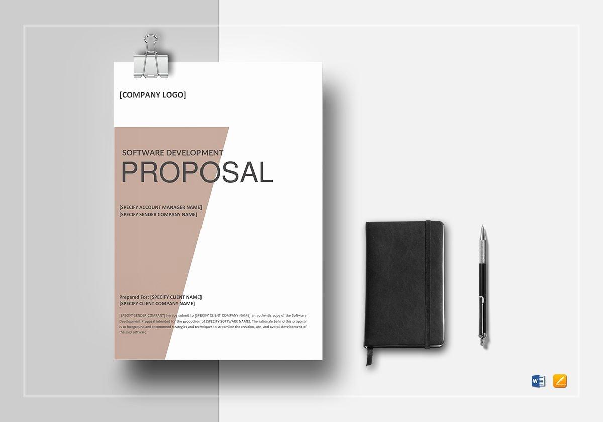 Software Development Proposal Template Elegant software Development Proposal Template In Word Google