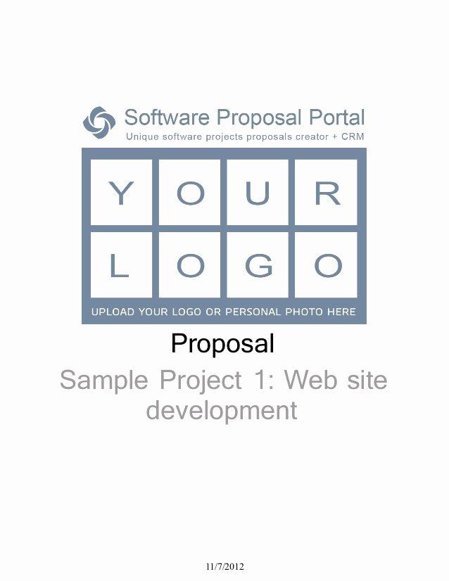 Software Development Proposal Template New software Proposal Sample Project 1 Web Site Development