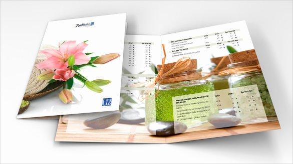 spa menu template design