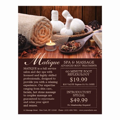 Spa Menu Template Free Fresh Spa Salon Menu Services Flyer with Coupons