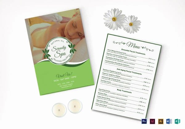 Spa Menu Template Free Luxury 24 Spa Menu Templates – Free Sample Example format