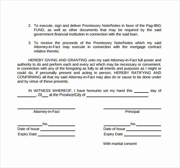 Special Power Of attorney Template Best Of Special Power Of attorney form 8 Free Samples Examples