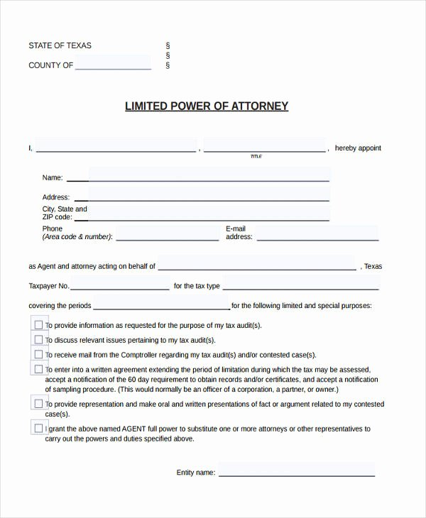 Special Power Of attorney Template Inspirational 24 Printable Power Of attorney forms