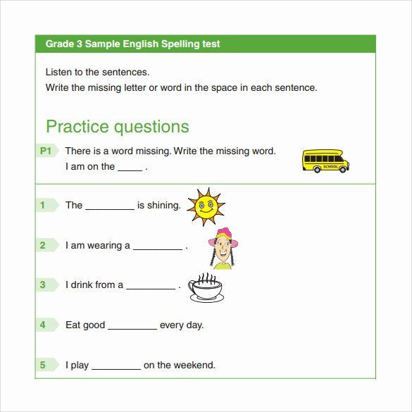 Spelling Test Template 15 Words Beautiful 15 Spelling Test Templates to Download