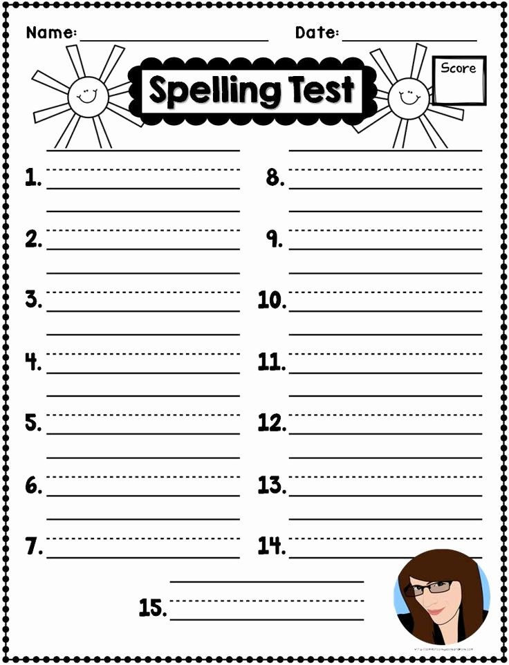 Spelling Test Template 15 Words Elegant 10 Best Ideas About Spelling On Pinterest