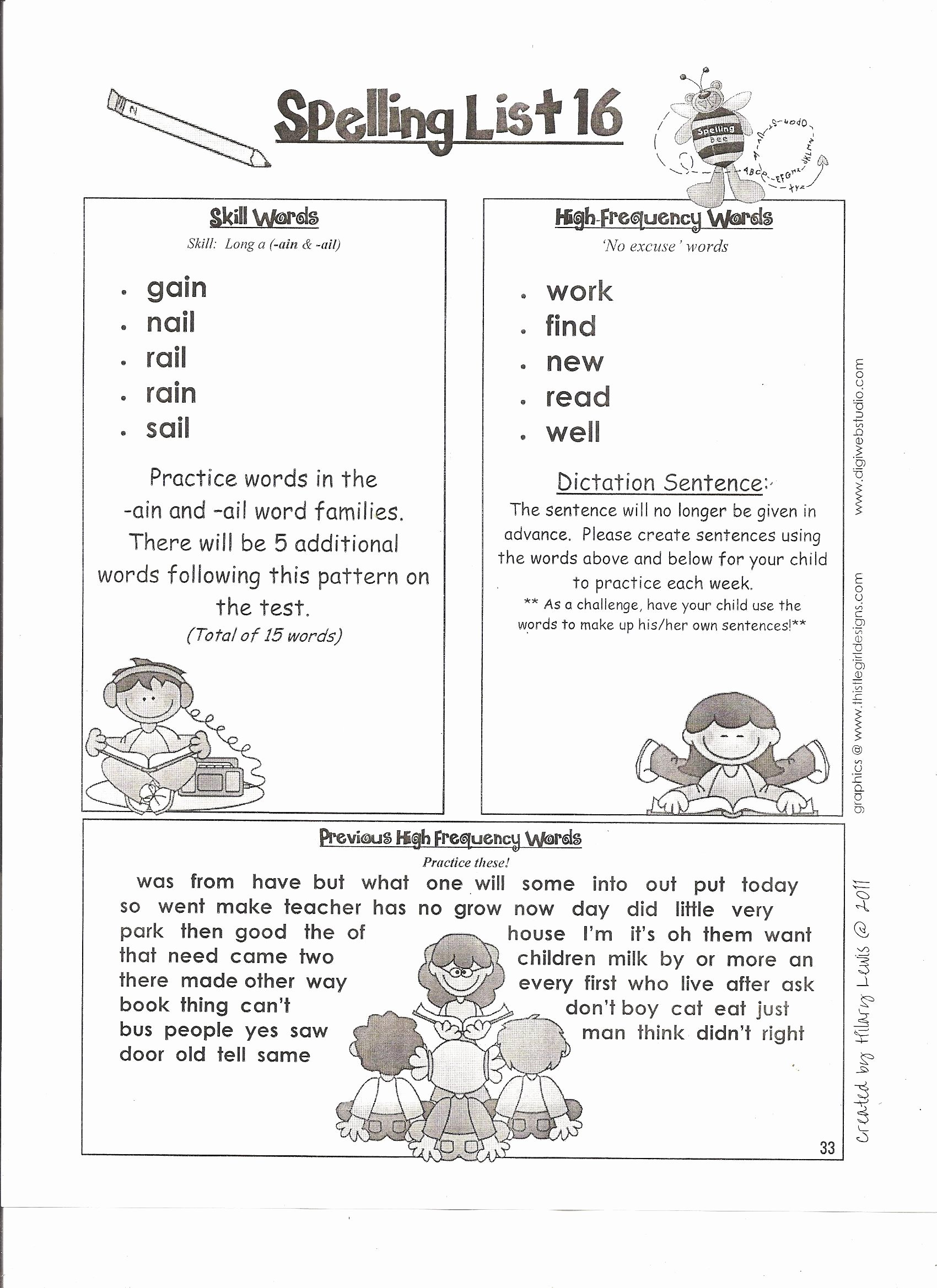 Spelling Test Template 15 Words Elegant Lear Jennifer Spelling Lists