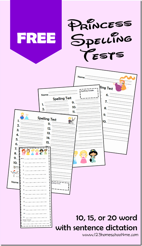 Spelling Test Template 15 Words Fresh Free Disney Princess Spelling Test Printables