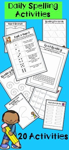 Spelling Test Template 15 Words Unique Fun Spelling Test Templates for 10 15 and 20 Words