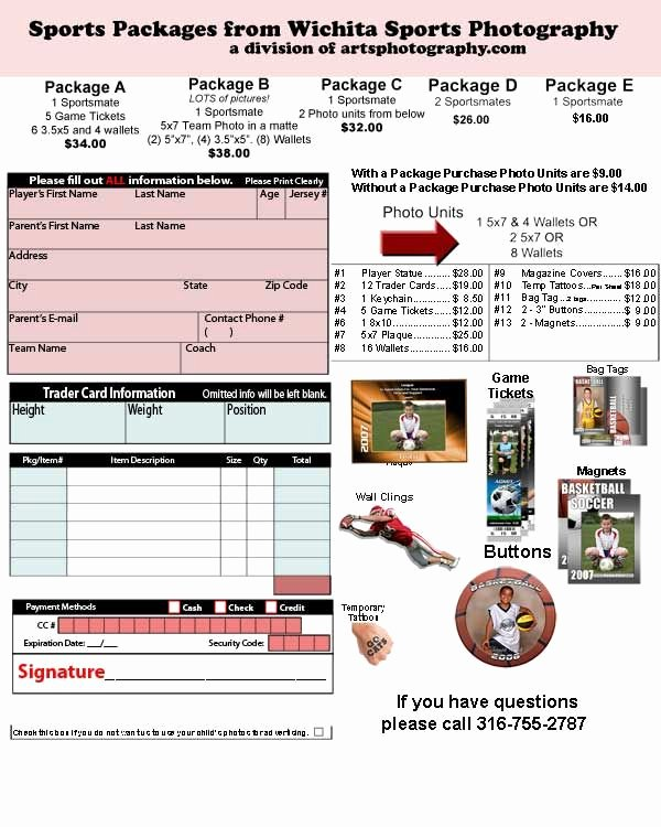 Sports Photography order form Template Elegant Best 25 order form Ideas On Pinterest