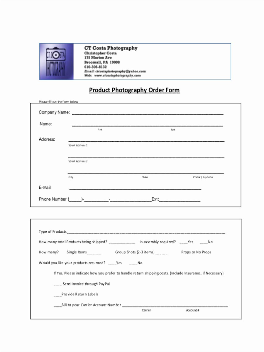 Sports Photography order form Template Inspirational 7 Graphy order form Samples Free Sample Example