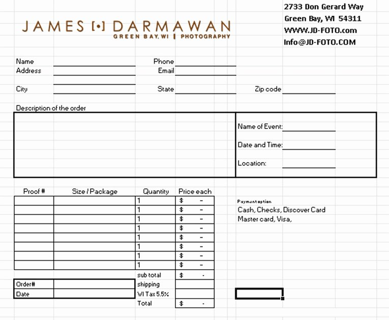 Sports Photography order form Template Lovely James Darmawan Graphy
