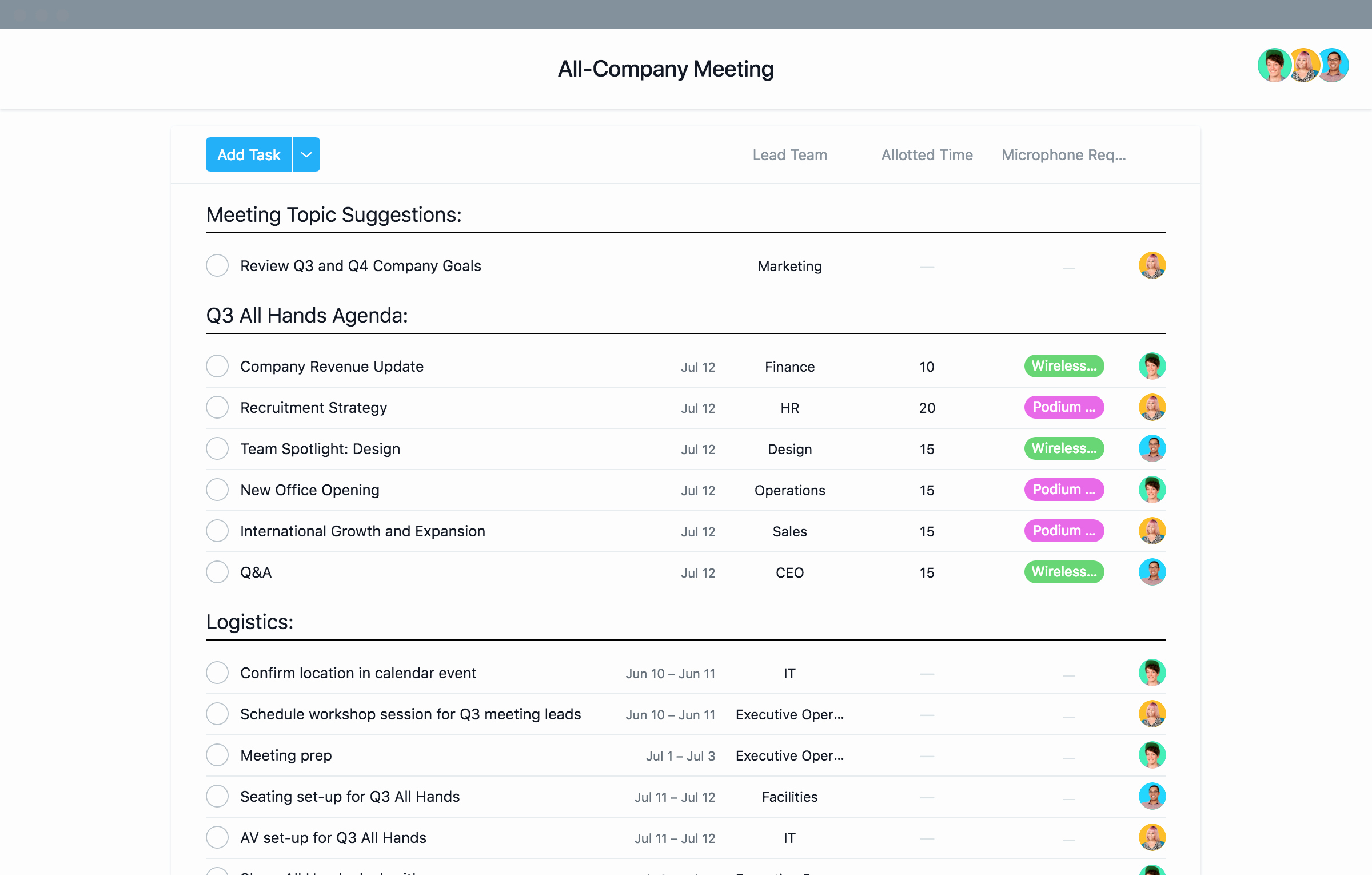 Staff Meeting Agenda Template Beautiful Staff & All Hands Meeting Agenda Template · asana