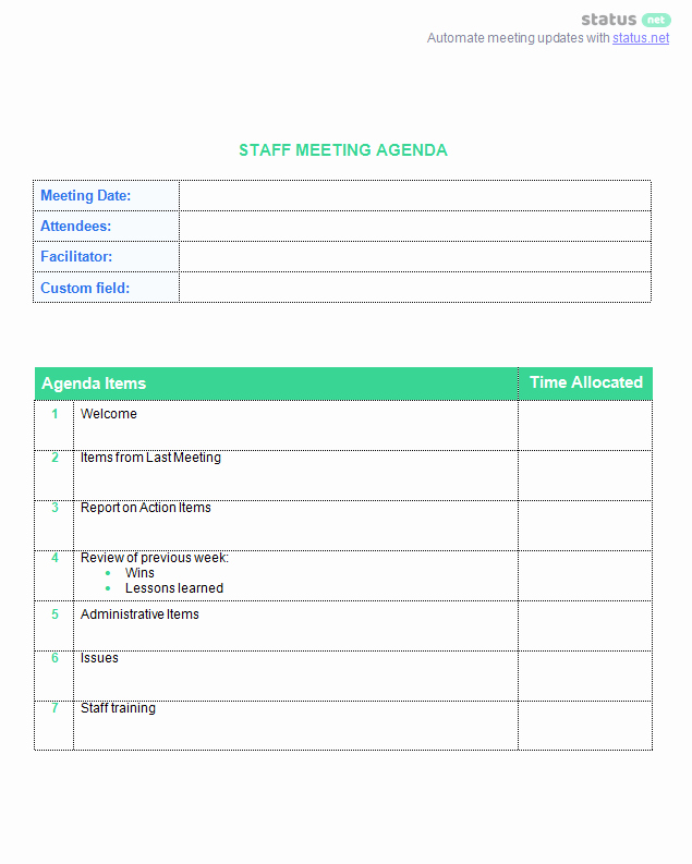 Staff Meeting Agenda Template Elegant 8 Best Staff Meeting Practices [ 2 Amazing Free Templates]