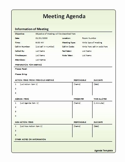 Staff Meeting Agenda Template Fresh Meeting Agenda Template Work