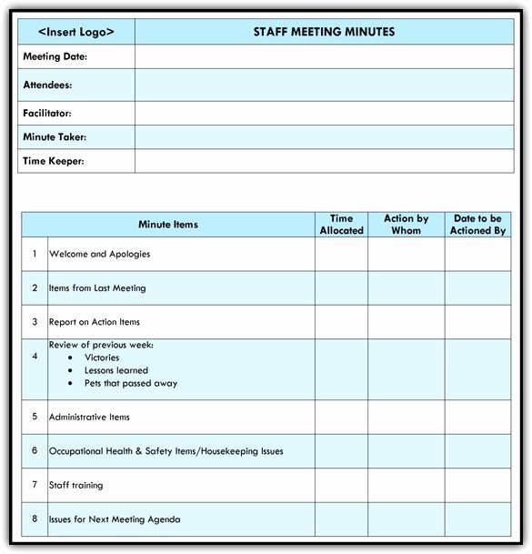 Staff Meeting Agenda Template Unique Staff Meeting Agenda Template