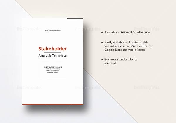 Stakeholder Analysis Template Excel Awesome Free 10 Stakeholder Analysis Samples In Google Docs