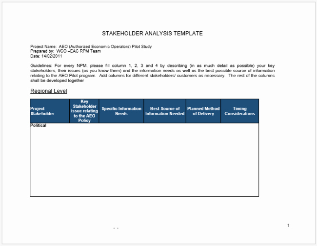 Stakeholder Analysis Template Excel Beautiful Stakeholder Analysis Template 13 Examples for Excel